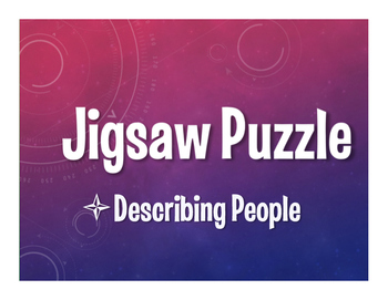 Avancemos 1 Unit 1 Lesson 2 Jigsaw Puzzle