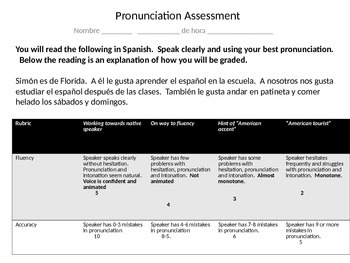 Avancemos 1.1 Speaking assessment