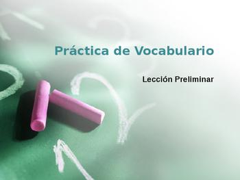 Avancemos 2 Lección Preliminar Vocabulary Practice