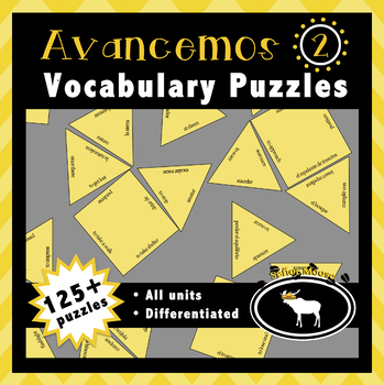 Avancemos 2 Spanish Vocabulary Puzzles (Entire Textbook)