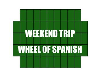 Avancemos 2 Unit 1 Lesson 2 Wheel of Spanish