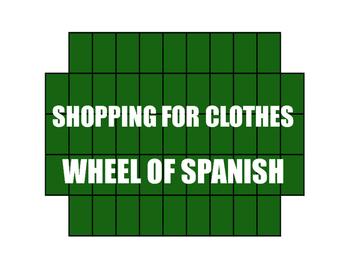 Avancemos 2 Unit 3 Lesson 1 Wheel of Spanish