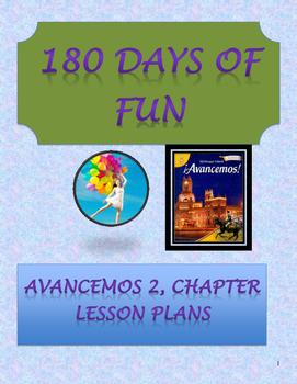 Avancemos 2, Unit 8 Lesson Plans