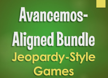 Avancemos 3 Bundle: Jeopardy-Style Review Games