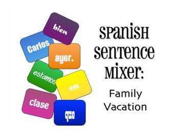 Avancemos 3 Unit 1 Lesson 2 Sentence Mixer