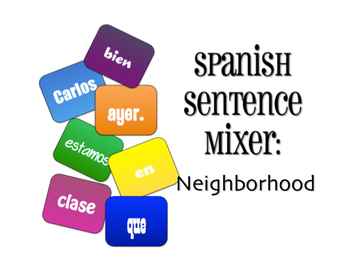 Avancemos 3 Unit 6 Lesson 1 Sentence Mixer