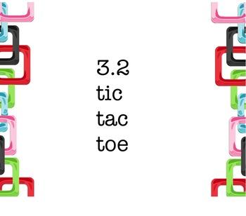 Avancemos 3.2  Review game Tic Tac Toe