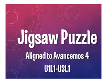 Avancemos 4 Semester 1 Review Jigsaw Puzzle