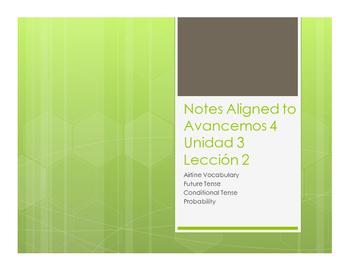 Avancemos 4 Unit 3 Lesson 2 Notes