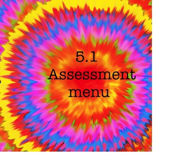 Avancemos 5.1 Assessment Menu