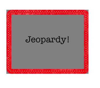 Avancemos 6.1 Jeopardy review game