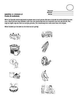 Avancemos II Leccion Preliminar Vocabulary Quiz