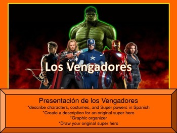 Avengers Superheroes presentation and activities