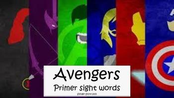 Avengers super hero primer sight words