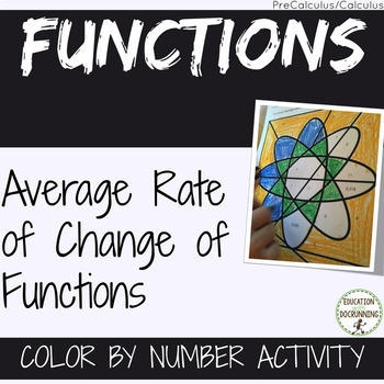 Average Rate of Change of Functions PreCalculus Color by n
