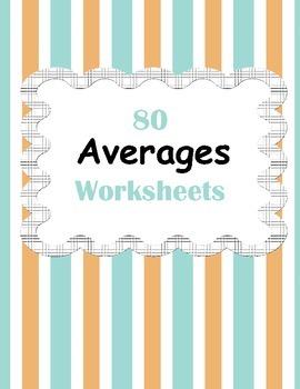 Mean (Averages) Worksheets