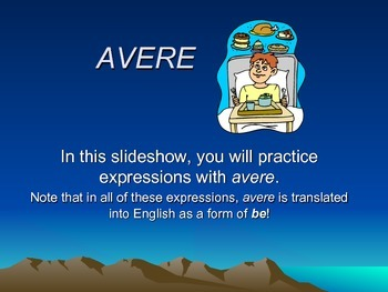 Avere expressions Powerpoint