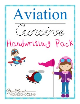 Aviation Cursive Handwriting Pack