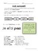 Avoir (au present) - grammar notes and activities
