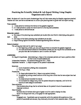 """Awakening"" the Scientific Method & Lab Report Writing in"