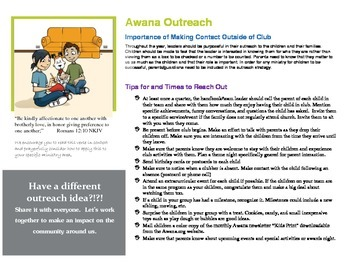 Awana Ministry Outreach Flyer