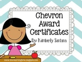 Award Certificates {EDITABLE} Chevron Themed
