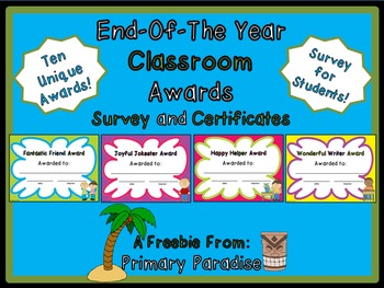 Award Certificates {End of the Year} Freebie
