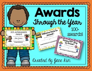 Award Certificates Through the Year!