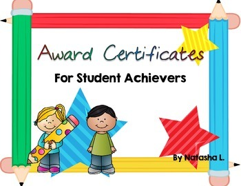Award Certificates for Elementary Grades