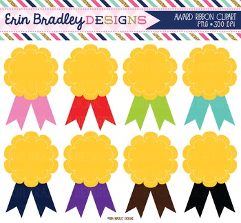 Award Clipart - Ribbon Badges