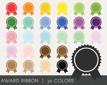 Award Ribbon Digital Clipart, Award Ribbon Graphics