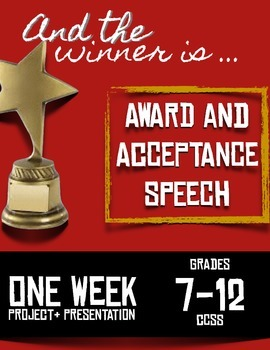 Award and Acceptance Speeches -- Perfect for ANY Speech Un