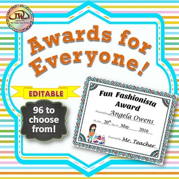 Award Certificates - EDITABLE