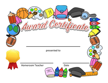 Awards Certificate