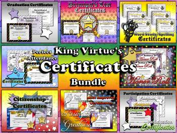 Certificates / Awards - End of Year BUNDLE - Editable Star