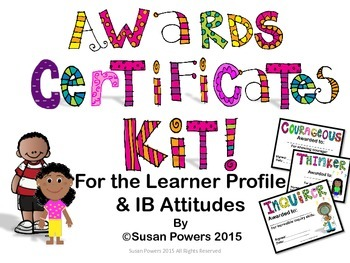 Awards Certificates for IB PYP with African American clip