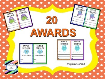 Awards with a Monster Theme---20 Ways to Recognize Students