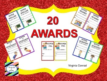 Awards with a School Theme--Weekly, Quarterly, End of Year