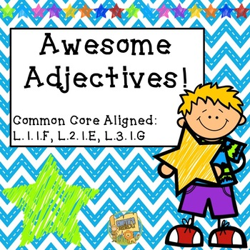 Awesome Adjectives - 3 Days of No Prep Activities - Grades 1- 3