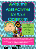 Awesome April Activities--Earth Day, Arbor Day, Baseball,