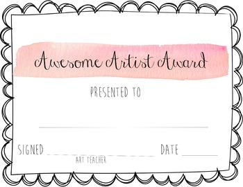 Awesome Artist Award (Pink)