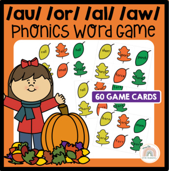 Awesome Autumn! An {aw} {au} {or} {al} Word Work Activity