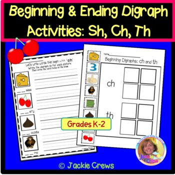 Beginning and Ending Digraph Activities K-1: SH,TH,CH
