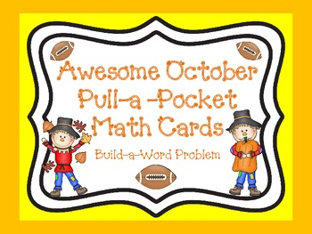 Awesome October Pull-a-Pocket Math Cards (Create Your Own