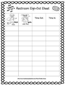 Awesome Superhero Restroom Sign-Out Sheet Freebie