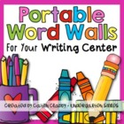 Writing Centers {Portable Word Walls}