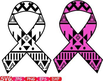 Aztec Cancer Ribbon Breast Cancer clip art doctor medic nu