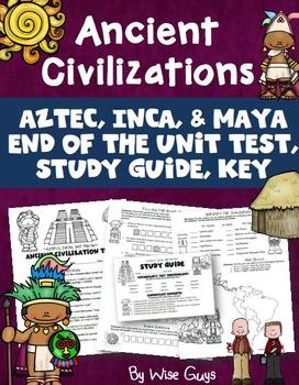 Aztec, Inca, Maya Unit Test (4 pages)