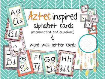 Aztec Inspired Alphabet Set