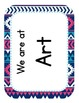 Aztec Navy & Pink Classroom Where Are We Cards